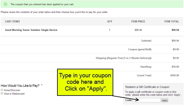 GMSS Order Confirmation
